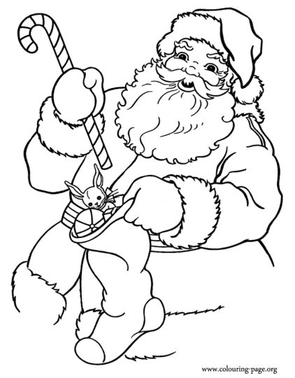 Santa Claus Colouring Pages 131