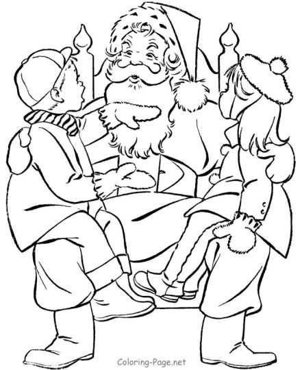 Santa Claus Colouring Pages 133