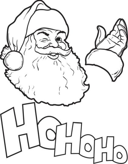Santa Claus Colouring Pages 137