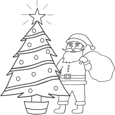 Santa Claus Colouring Pages 138