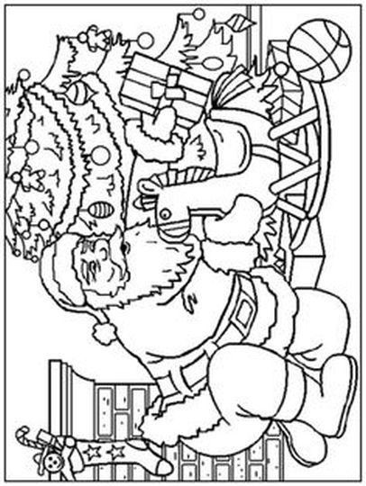Santa Claus Colouring Pages 139