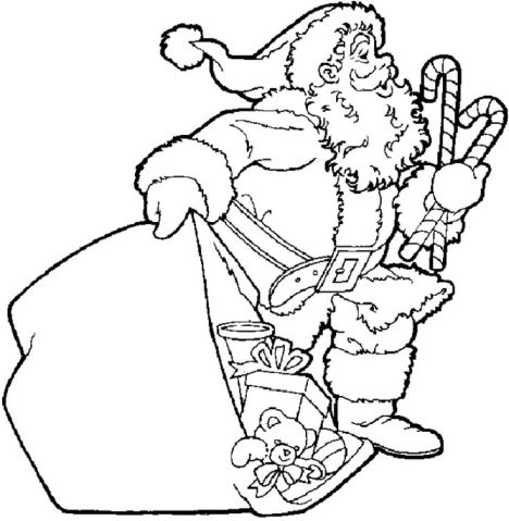 Santa Claus Colouring Pages 143