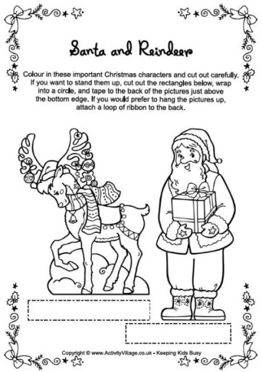 Santa Claus Colouring Pages 145