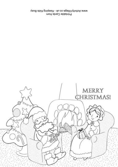 Santa Claus Colouring Pages 146