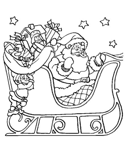 Santa Claus Colouring Pages 148