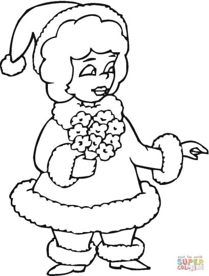 Santa Claus Colouring Pages 15