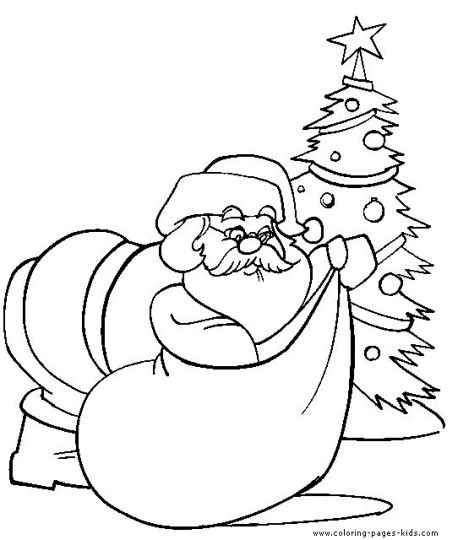 Santa Claus Colouring Pages 150