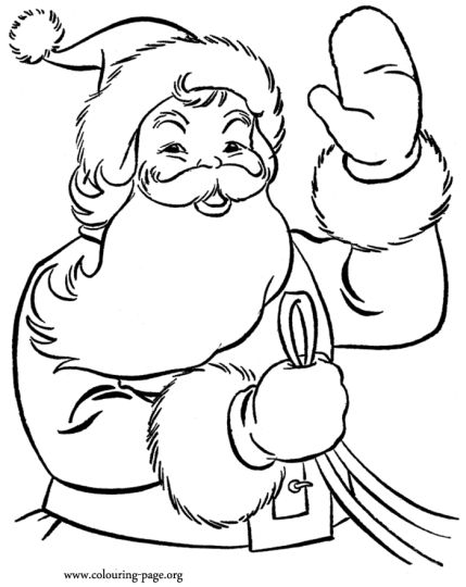 Santa Claus Colouring Pages 152