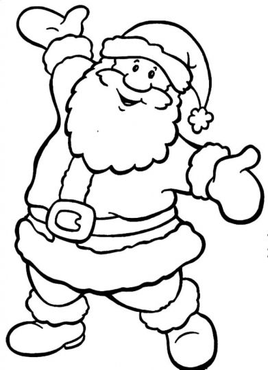 Santa Claus Colouring Pages 156