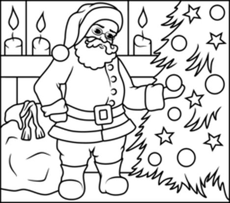 Santa Claus Colouring Pages 159