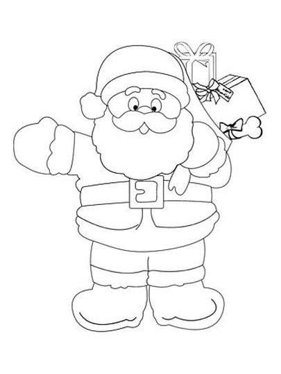 Santa Claus Colouring Pages 16