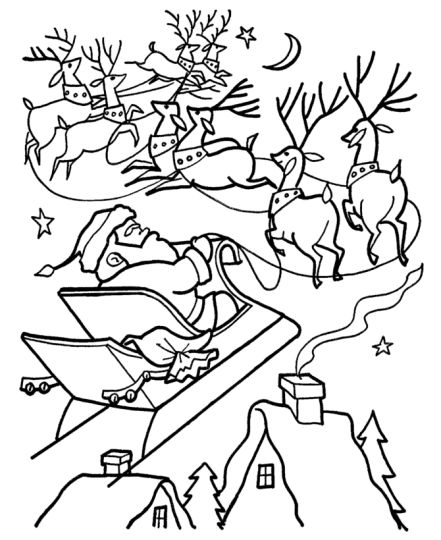 Santa Claus Colouring Pages 160