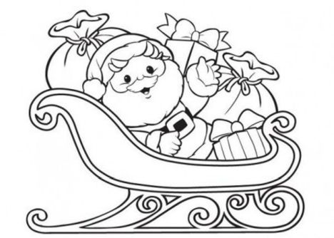 Santa Claus Colouring Pages 161
