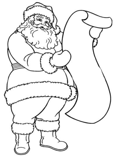 Santa Claus Colouring Pages 163