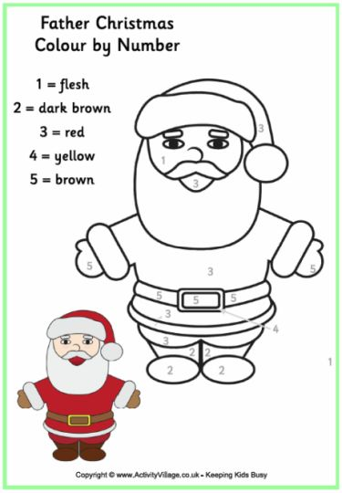 Santa Claus Colouring Pages 164