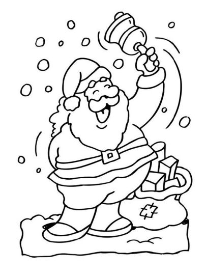 Santa Claus Colouring Pages 166