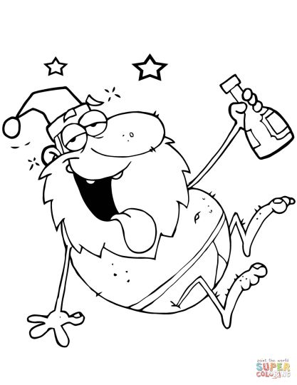 Santa Claus Colouring Pages 168