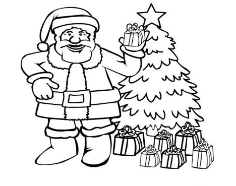 Santa Claus Colouring Pages 17