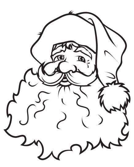 Santa Claus Colouring Pages 175