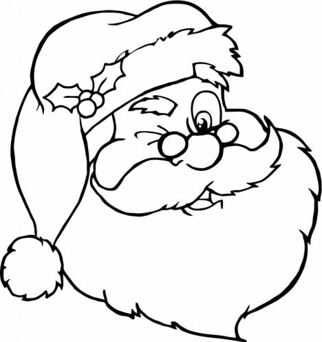 Santa Claus Colouring Pages 177