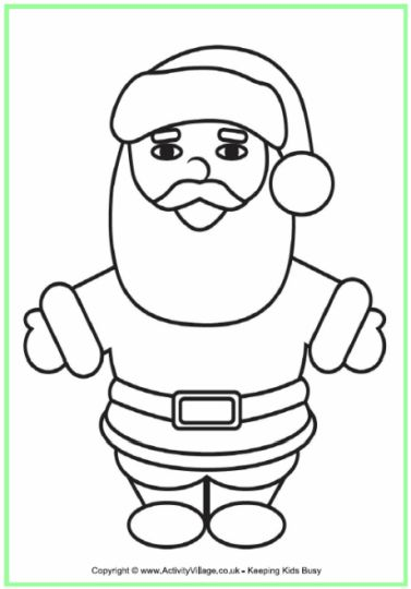 Santa Claus Colouring Pages 178