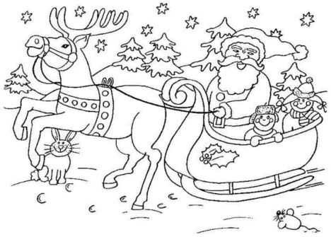 Santa Claus Colouring Pages 179