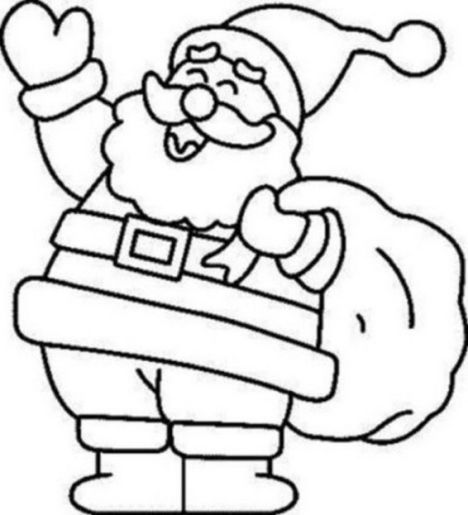 Santa Claus Colouring Pages 2