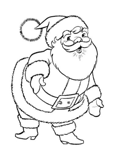 Santa Claus Colouring Pages 22