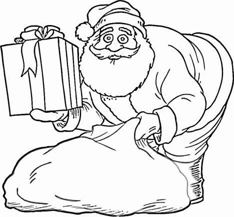Santa Claus Colouring Pages 26