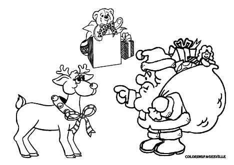 Santa Claus Colouring Pages 29