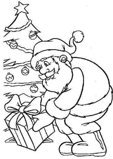 Santa Claus Colouring Pages 3
