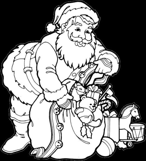 Santa Claus Colouring Pages 32