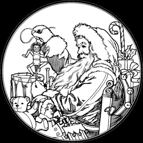 Santa Claus Colouring Pages 33