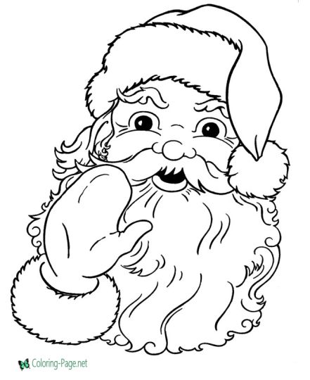 Santa Claus Colouring Pages 36