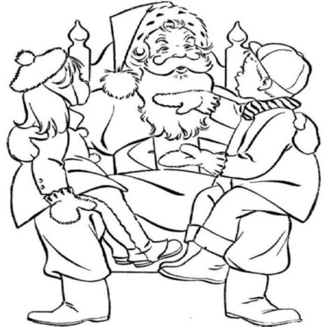 Santa Claus Colouring Pages 4