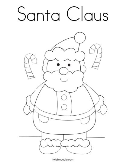 Santa Claus Colouring Pages 42