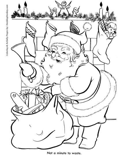 Santa Claus Colouring Pages 43