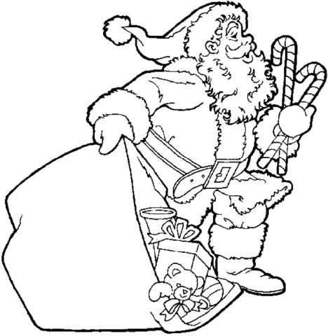 Santa Claus Colouring Pages 46