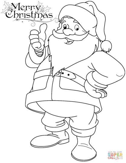 Santa Claus Colouring Pages Part 5