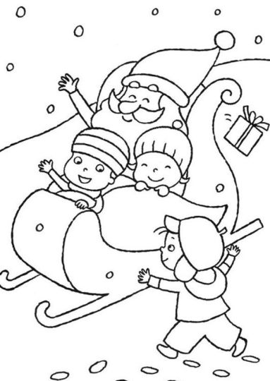 Santa Claus Colouring Pages 5