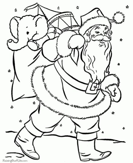 Santa Claus Colouring Pages 51