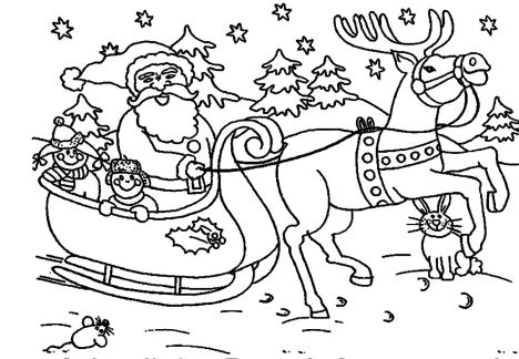 Santa Claus Colouring Pages 54