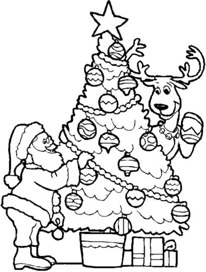 Santa Claus Colouring Pages 55