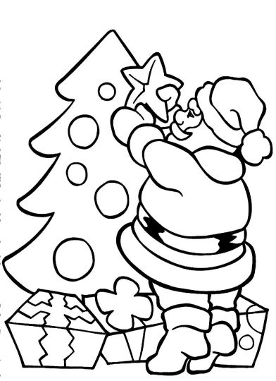 Santa Claus Colouring Pages 56