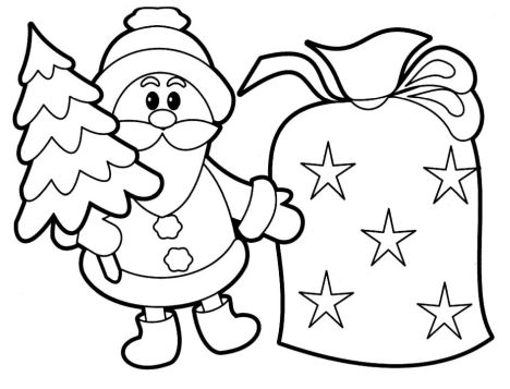 Santa Claus Colouring Pages 59