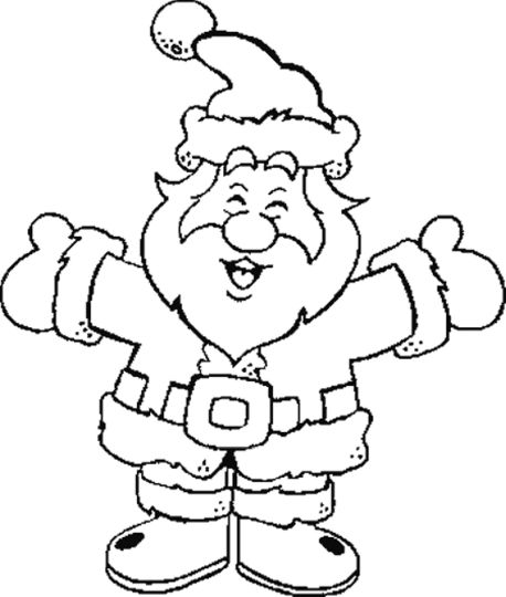 Santa Claus Colouring Pages 6