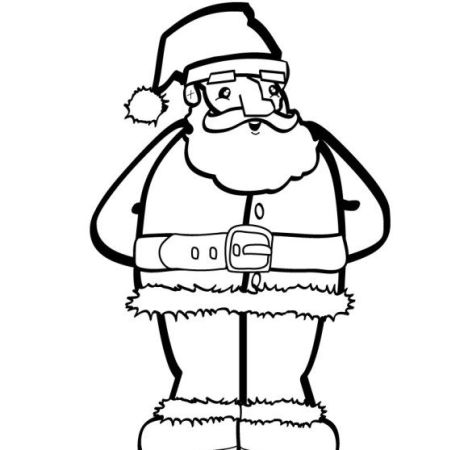 Santa Claus Colouring Pages 61