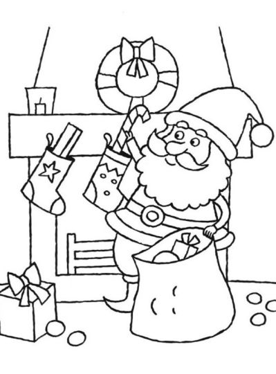 Santa Claus Colouring Pages 62
