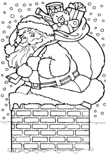 Santa Claus Colouring Pages 65