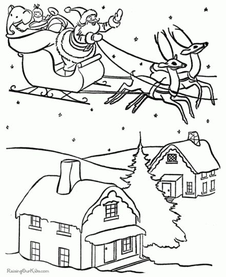 Santa Claus Colouring Pages 66